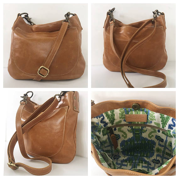 UKSANA - Leather Bag - Leather Hobo Bag - Aged Rattan Leather Crossbody -  Boho Chic - Boho Bag - Wom