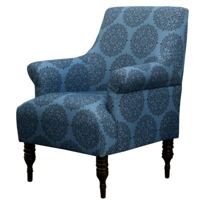Candace upholstered arm chair teal medallion seaside for Teal reading chair