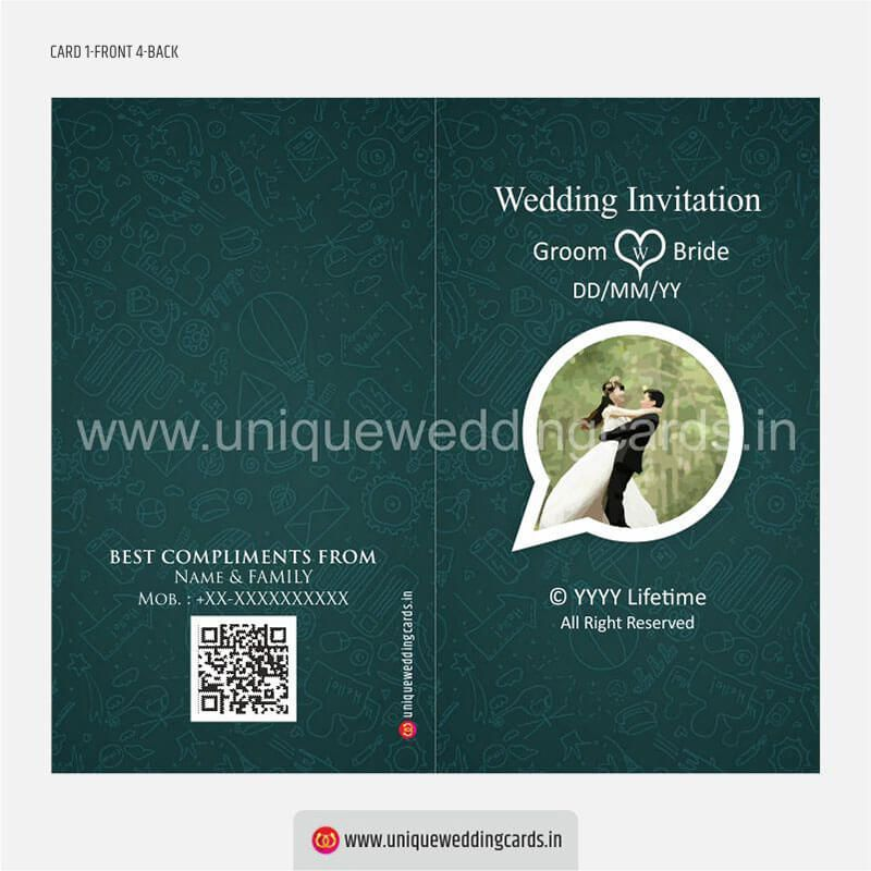 Whatsapp Style Wedding Invitation Card Unique Wedding