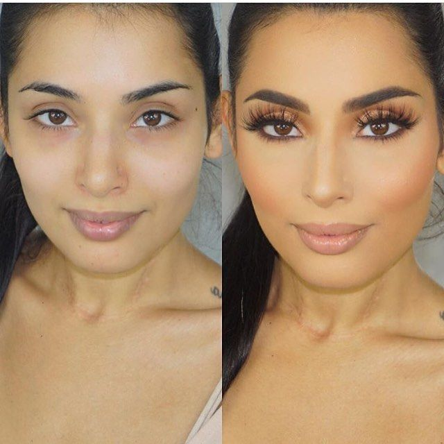 Contour using only powders (no cream or liquid) for fast and easy sculpting! My sis in law is a busy mommy and didn't have much time ❤️️ Sorry for the terrible quality- had to quickly take the pics with my phone