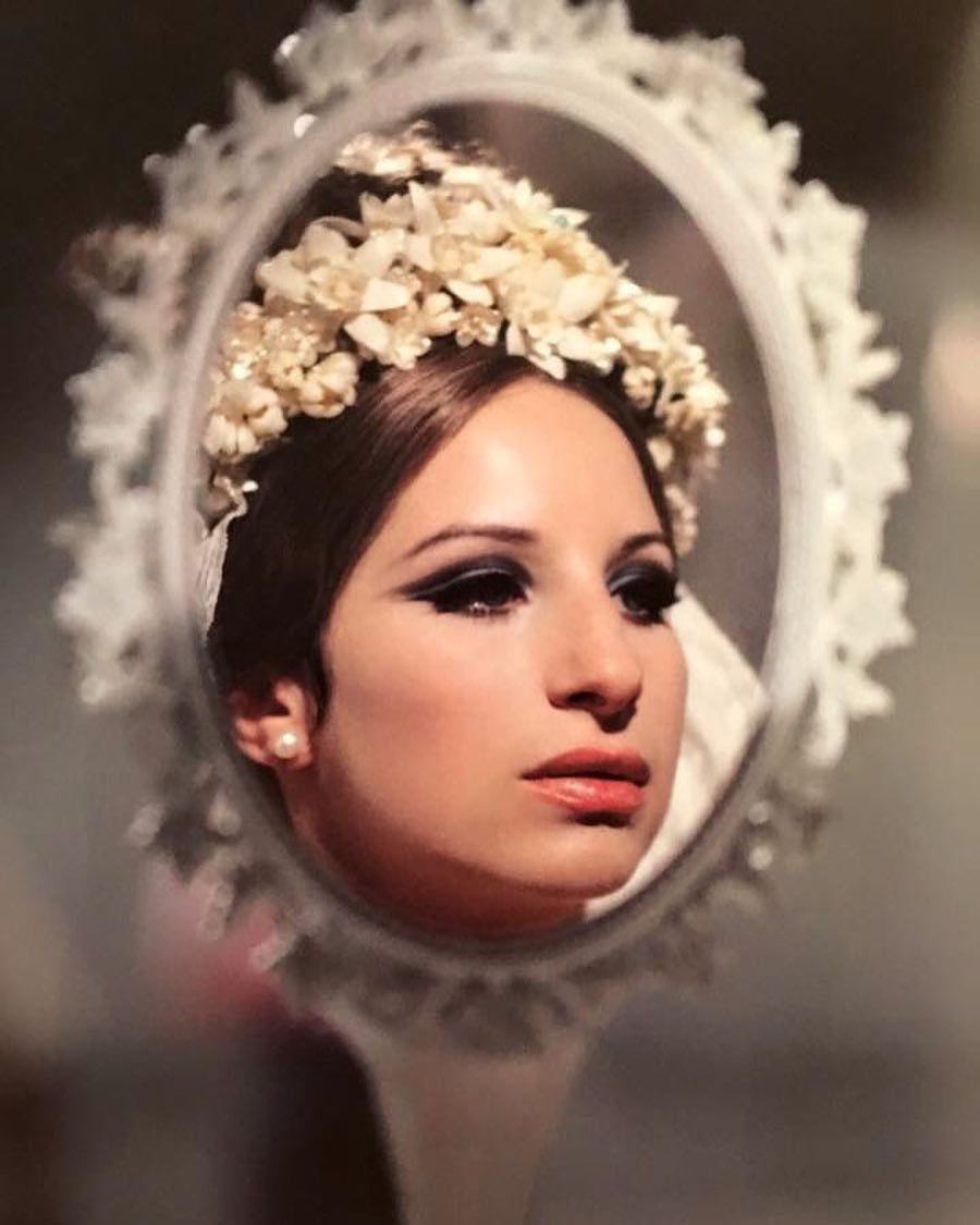 "@classicfilmlover on Instagram: ""Barbra Streisand during the filming of 'Funny Girl' (dir: William Wyler, 1968) #barbrastreisand #funnygirl #williamwyler"""
