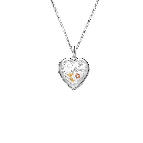"""Sterling Silver Diamond Accent Heart Locket Pendant Necklace with Engraved Mom, 18"""" Amazon Curated Collection. $49.00. Lockets keep that special someone close to your heart. Made in USA. This beautifully hand engraved locket makes the perfect gift for Mom. Save 55%!"""