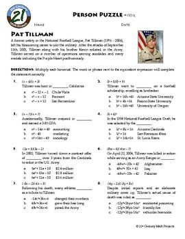 A new Person Puzzle -- Modern-Day American Patriot, Pat Tillman