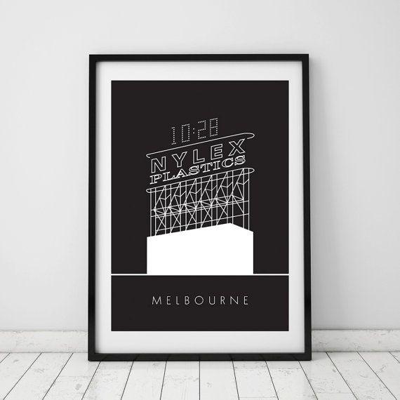 Nylex Clock, Melbourne, A4 Beautiful print, Australia, Iconic ...
