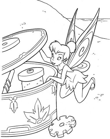 Tinker Bell Is Looking Inside Of Musical Box Coloring Page Tinkerbell Coloring Pages Fairy Coloring Pages Fairy Coloring