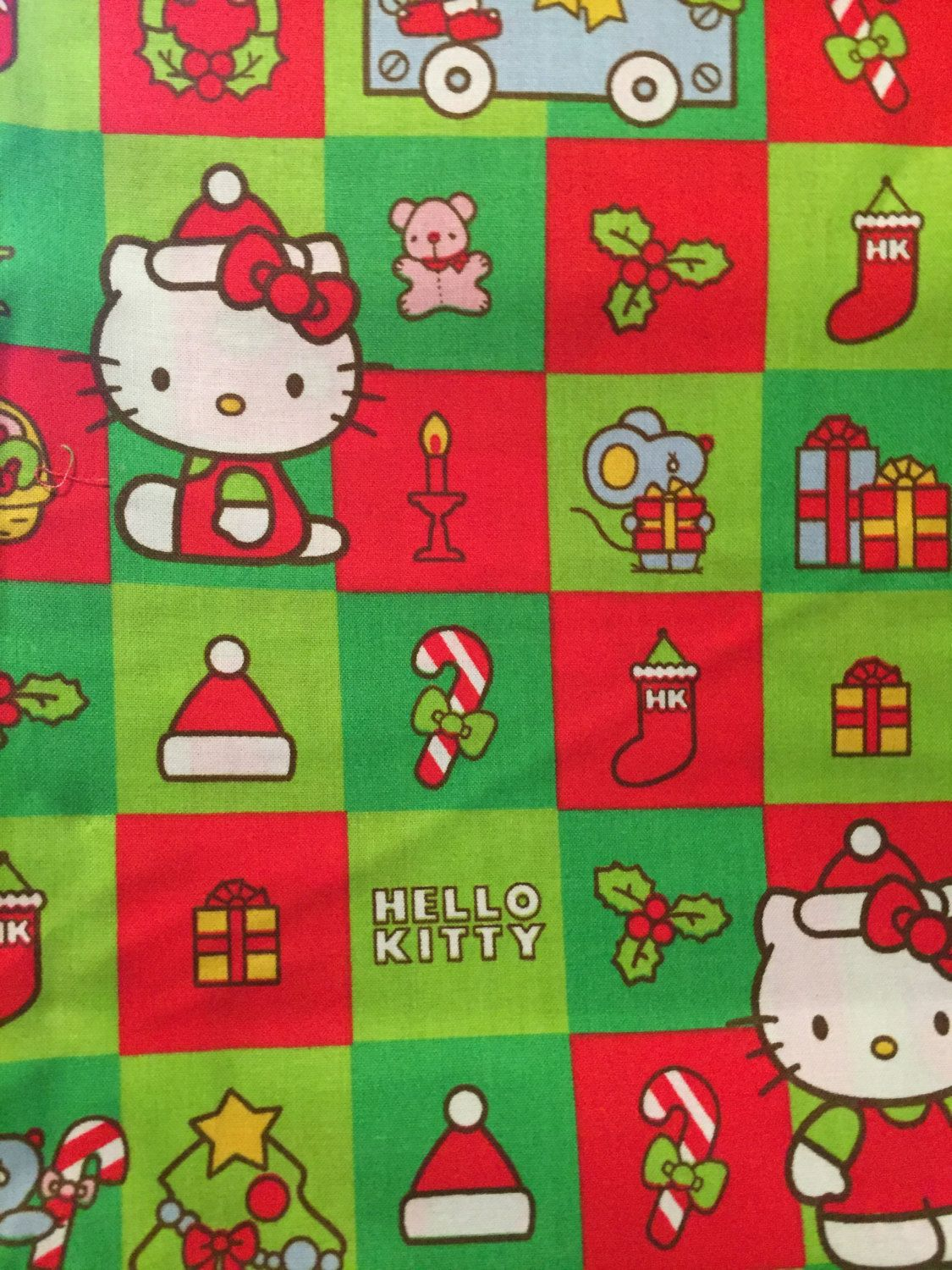 This listing is a hello kitty christmas blocks and is sold by the