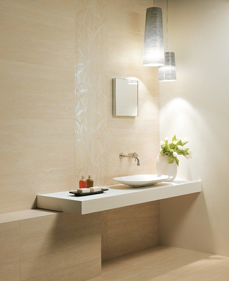 Salle de bain travertin  la beauté de la pierre de Tivoli - carrelage en pierre naturelle salle de bain