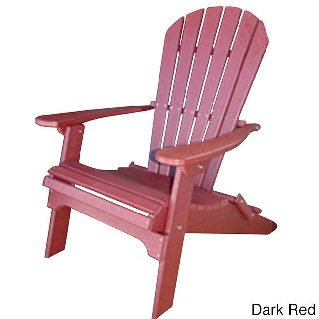 forever phat tommy recycled poly folding adirondack chair dark red