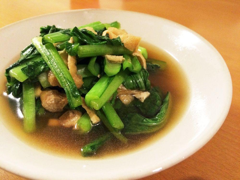 めんつゆで簡単♡小松菜と油揚げの煮浸し by hr7 [クックパッド] 簡単おいしいみんなのレシピが223万品