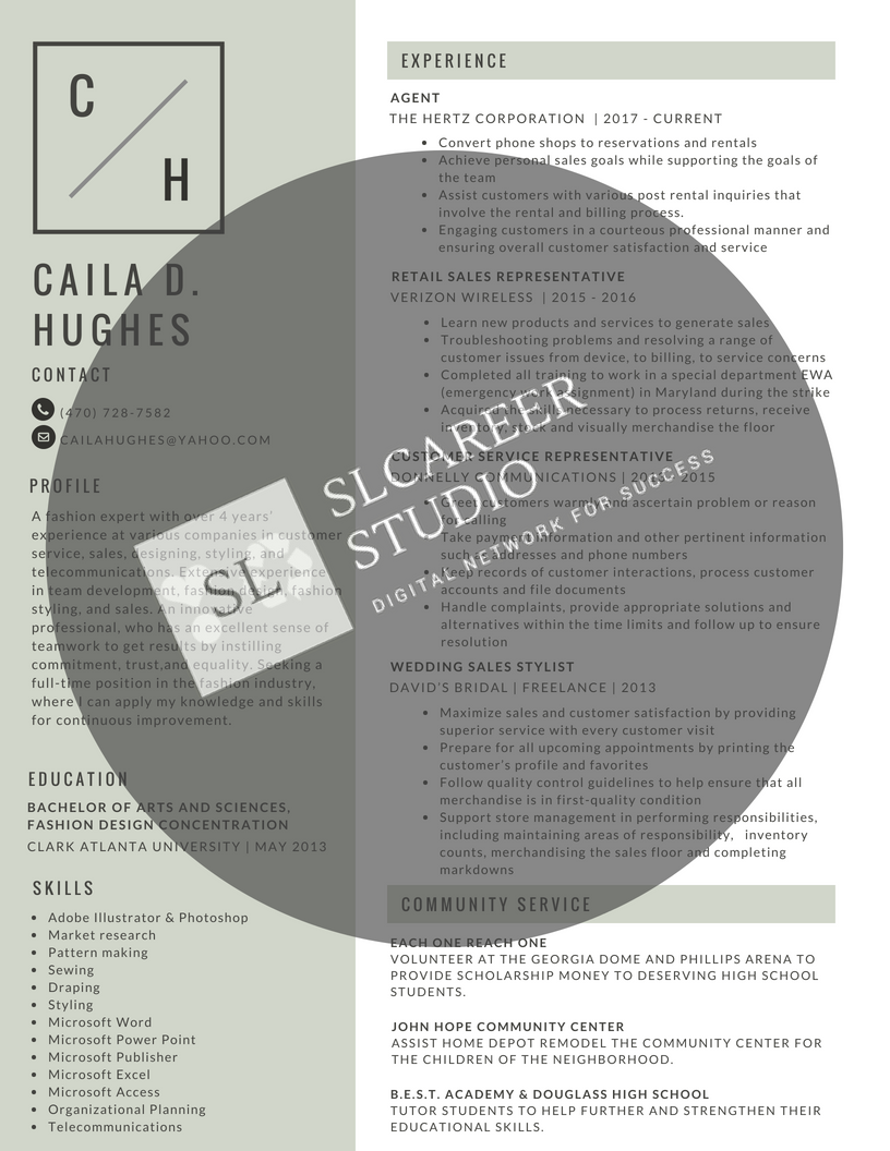 Traditional resume for a job seeker. Create a resume