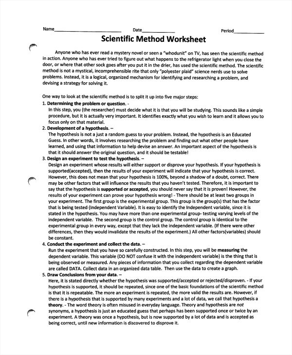 amppinterest in action Scientific method worksheet