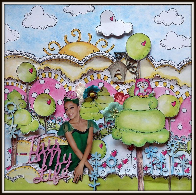 This is my life - Scrapbook.com Chipboards Zarza Laser Papers Scrapdiary