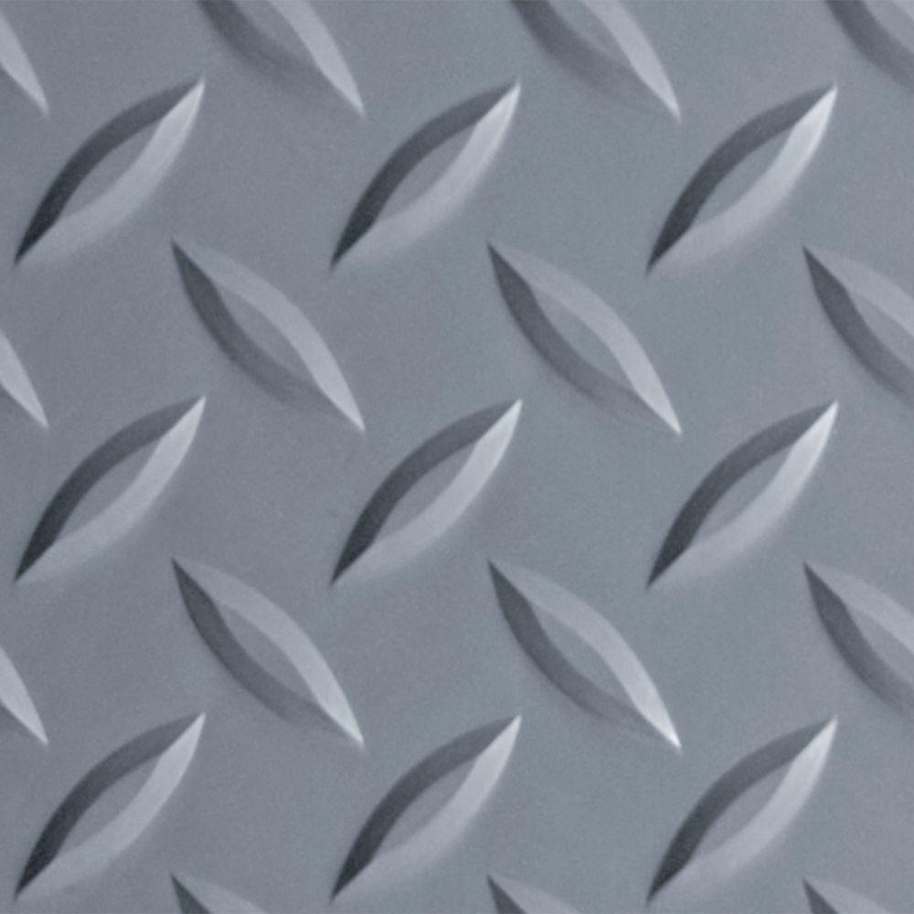 8 5 Ft X 22 Ft Diamond Tread Slate Grey Commercial Grade Garage Floor Cover And Protector Vinyl Garage Flooring