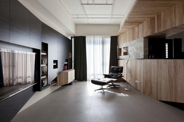 Apartment Design in hellen und dunklen Nuancen - Finden Sie - wohnzimmer ideen dunkel