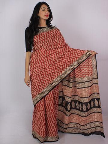 5e49cfa9b7 Buy Online Authentic Hand Block Printed Indian Sarees, Ajrakh Sarees at  InduBindu.com. Best collection of Hand Printed Sarees. Cotton Sarees.