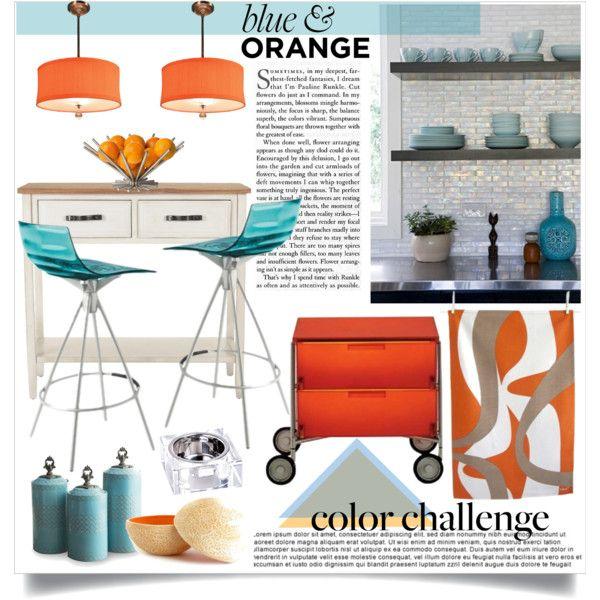 """{blue & orange accents}"" by kevykdesigns on"