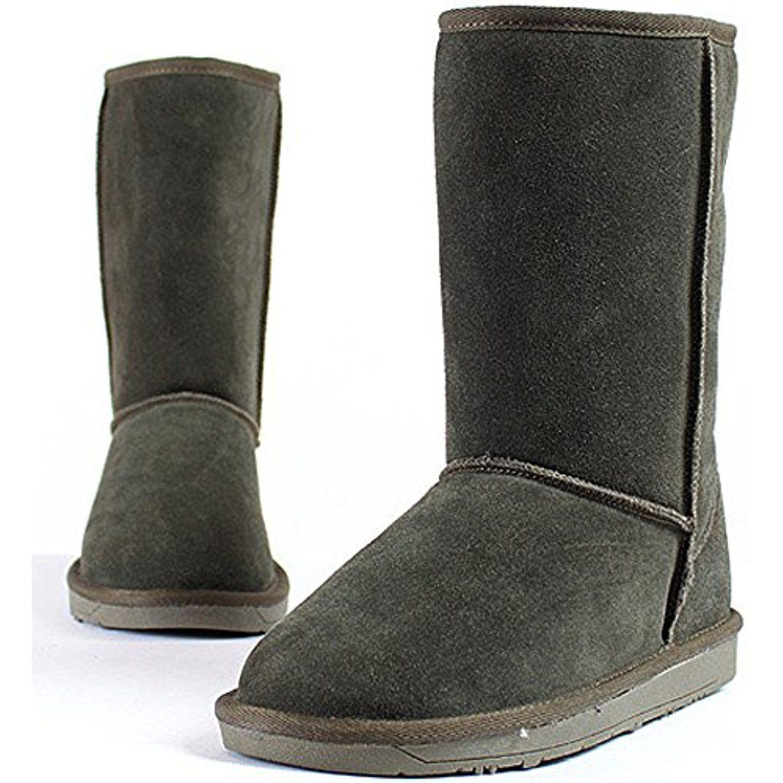 New Mooda Snow Winter Warm Womens Stylish Fashion Leather Boots Shoes Khaki