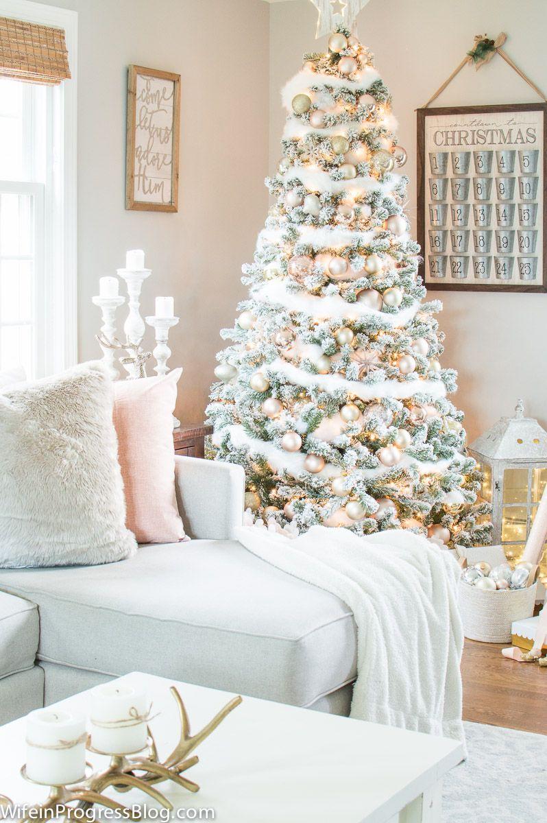 Christmas Decorating Ideas: Blush Pink & Gold Christmas Tree ...