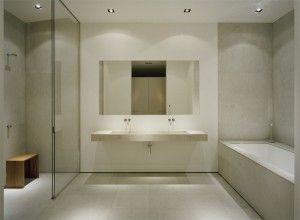 Rustige kleuren hoge kwaliteit materialen; de ideal badkamer