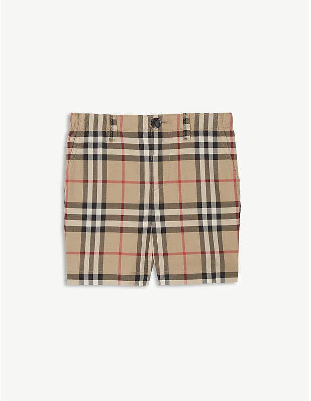Burberry Check print shorts 6-24 months