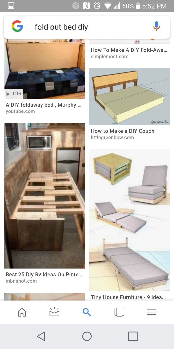Pin By Kalie Graves On Camper Tiny House Furniture Diy Bed
