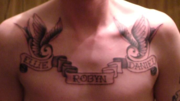Kids Name On Chest