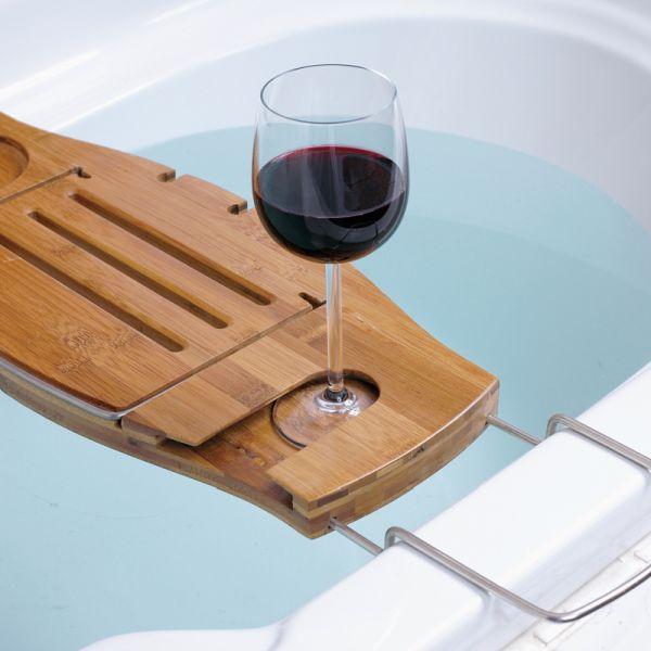 15 Marvelous Bathtub Tray Design Ideas To Enjoy Every Moment ...