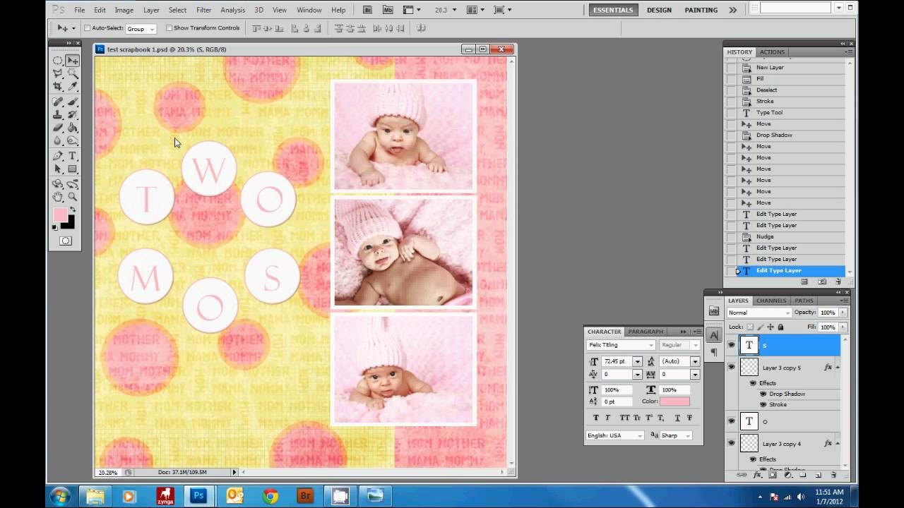 1 How To Create A Digital Scrapbook Page With Photoshop
