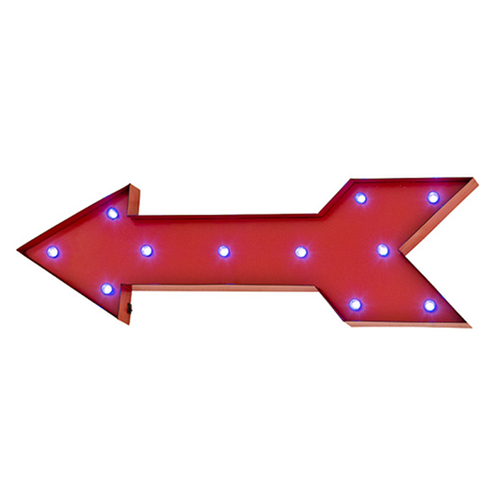 Led Signs This Way Vintage Look Red Led Wall Art Arrow Arrow Wall Art Arrow Wall Decor Led Wall Art
