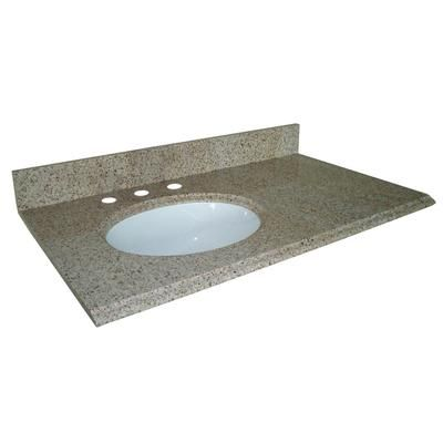 Pegasus - Beige Granite Vanity Top With Left Bowl - 37 ...