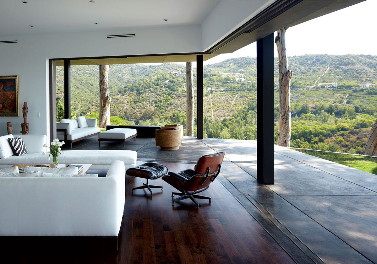Living Space, Terrace, Views, Mandeville Canyon Residence In Los Angeles By  Griffin Enright