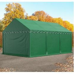 Photo of Storage tent 4x6m Pvc 550 g / m² dark green waterproof shelter, storage toolport