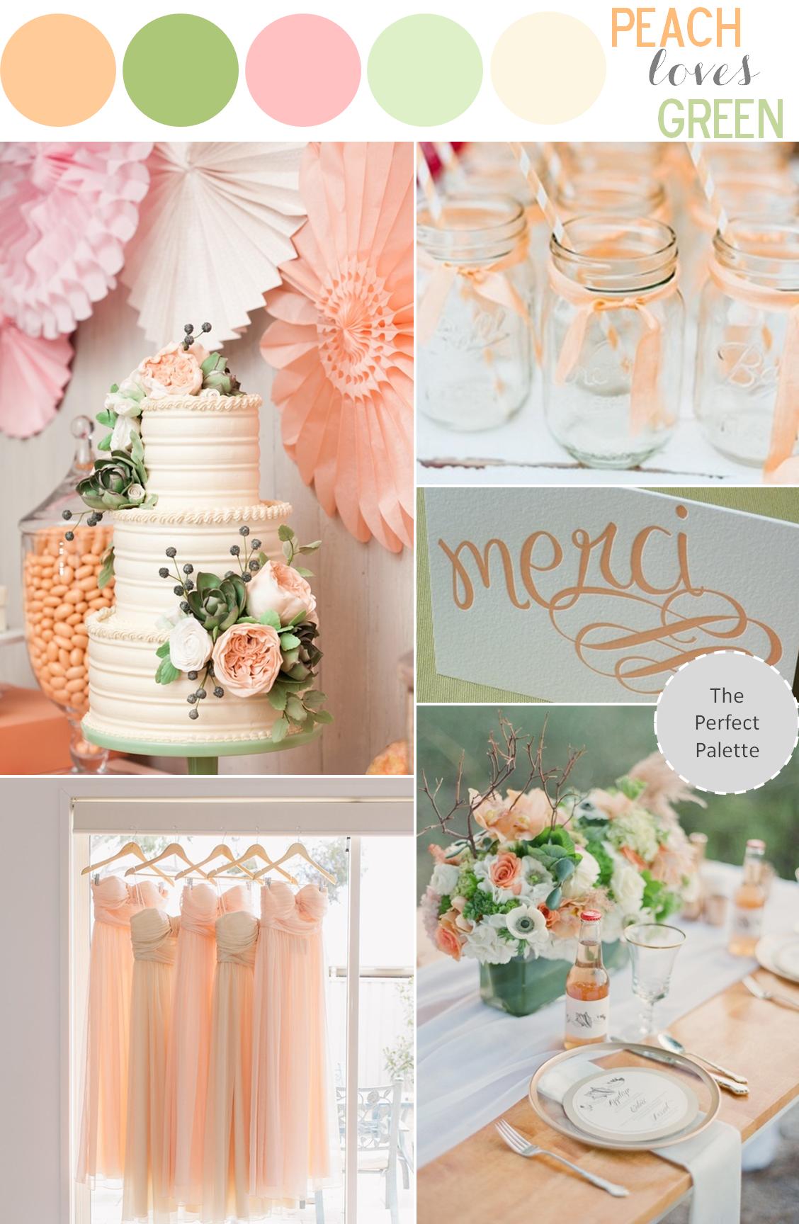 Color Story StoriesGreen ColorsGrey Peach WeddingGreen