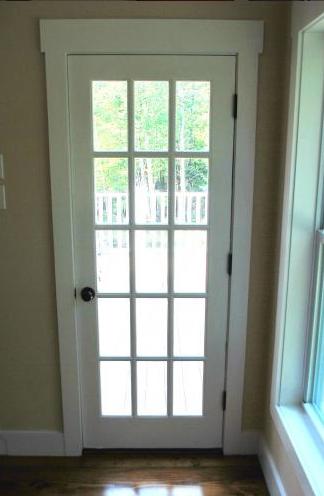 Full Glass Panel With Grid Door Catskillfarms Living Room