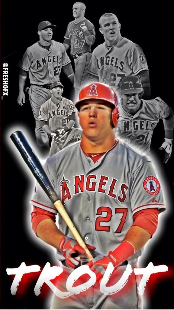 Image Result For Mike Trout Wallpaper Mike Trout Trout