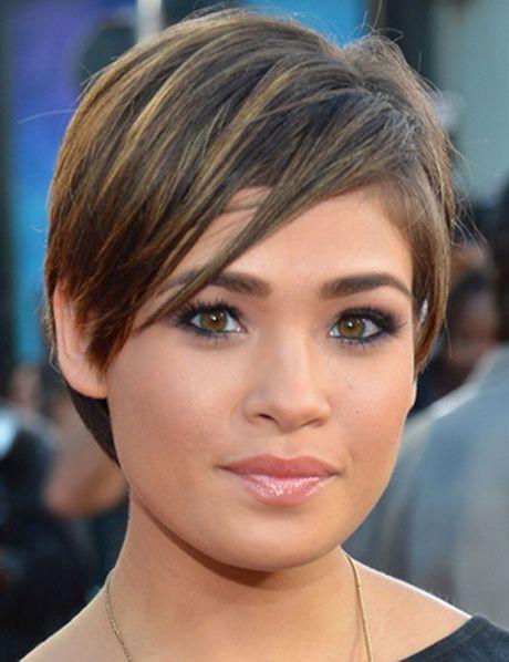 Coupe cheveux courte tendance Coupe courte visage rond