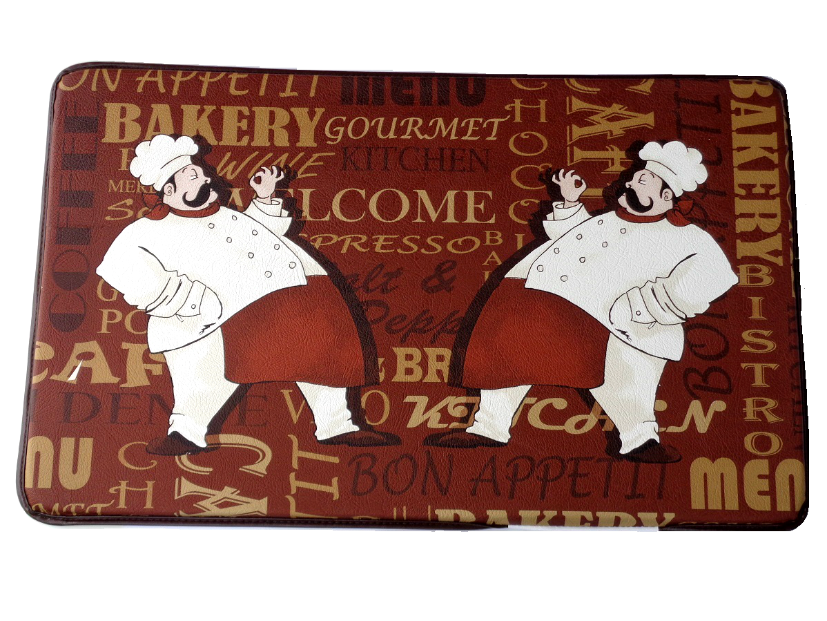 Fat Italian Chefs Memory Foam Kitchen Rug $29.95