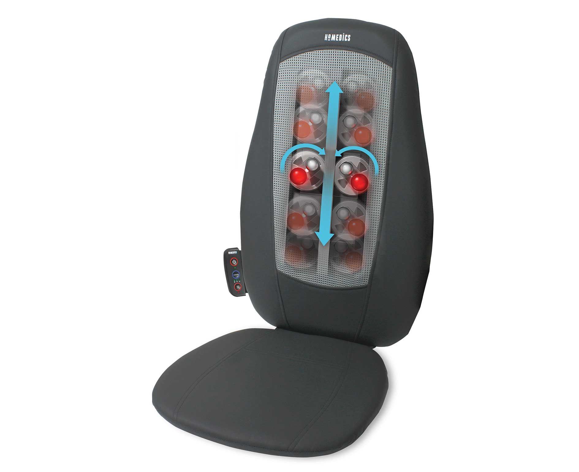 Homedics Shiatsu Electric Back Cushion Massager With Heat Used New Rrp 89 99 Neck Massage Massage Foot Massage