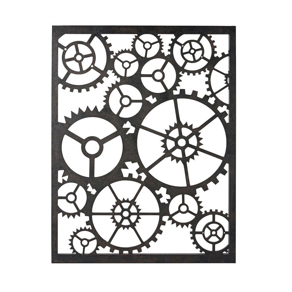 d coration murale rouages noirs d co. Black Bedroom Furniture Sets. Home Design Ideas