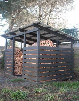 Wood shed for 5 cords google search firewood pinterest cord google - Rangement bois de chauffage ...