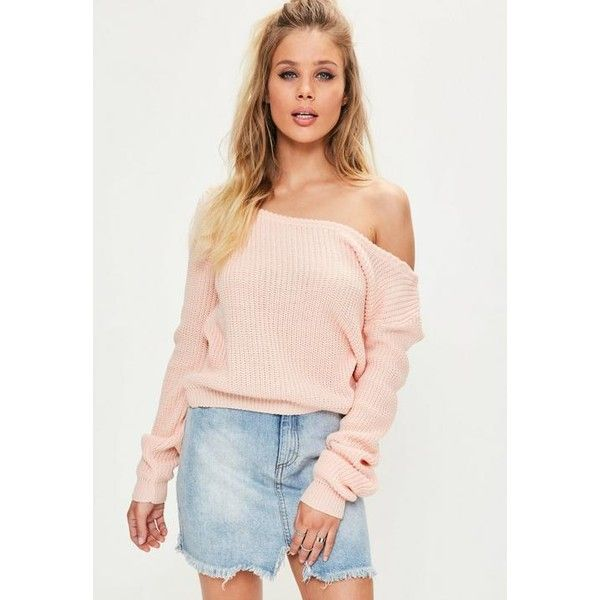 Missguided Off Shoulder Knitted Cropped Jumper ($22