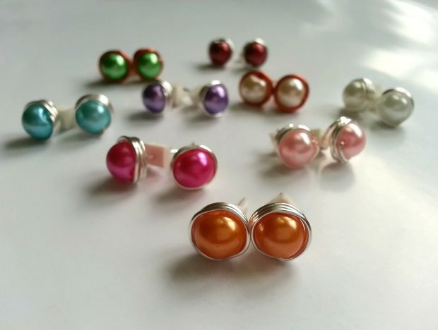 Diy Bead Stud Earrings Diy Earrings Studs Studs Diy Jewelry
