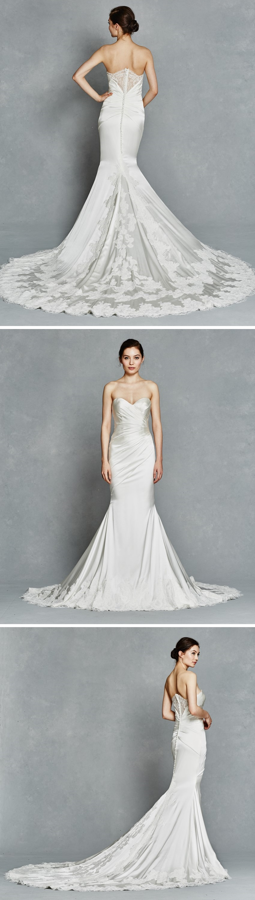love the train and the back detail of this beautiful wedding dress
