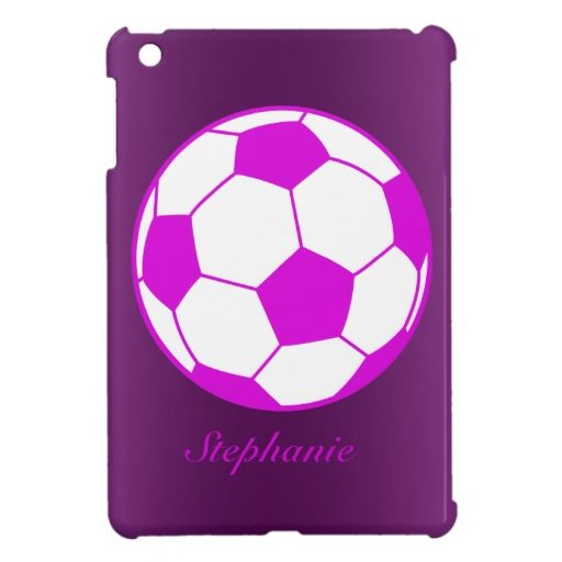 Personalized Girly Soccer Ball Player Sport Ipad Mini Cover Zazzle Com Girly Soccer Ipad Mini Ipad Mini Cover