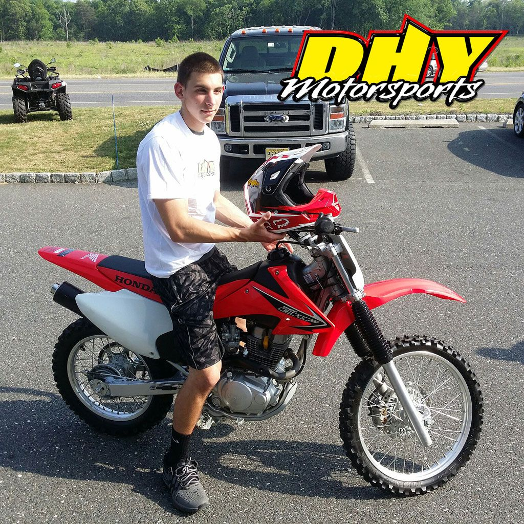 Congratulations to Phil from #Glendora on his purchase of this 2008 #Honda #CRF150F Enjoy carving up the trail with this tried and tested performer and thank you for joining the #DHYMotorsports family of customers. #mynewride #dhynj #dirtbike
