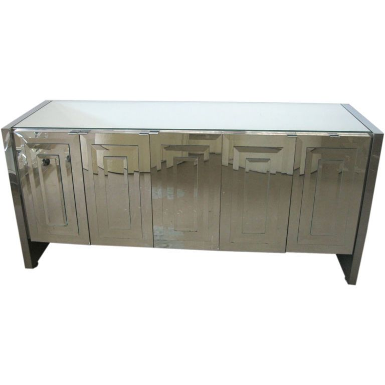 Vintage Ello Mirrored Credenza... Been Looking For This Piece For A While.