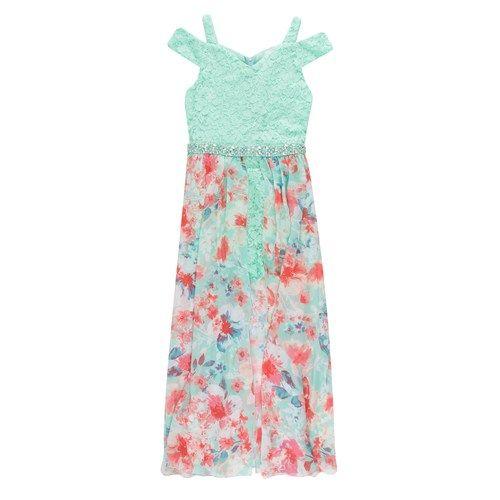 099afa578 Speechless Girls 7-16 Cold-Shoulder Walk Thru Maxi Dress in 2019 ...