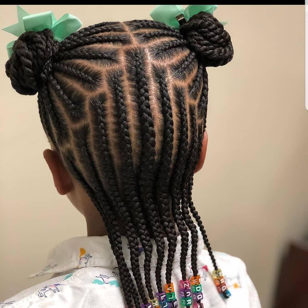 Kids Braids Hairstyle Braids 2 Da T Follow Kissegirl Beauty Brand Hair Skin Nails Browng Hair Styles Kids Braided Hairstyles Braided Hairstyles