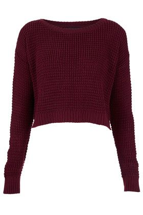 ac5b70edd7 Cute Cropped Sweater TOPSHOP Knitted Textured Crop Jumper ...