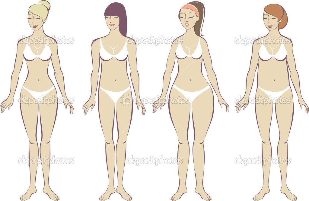 女性的身体类型集 - 图库插图: 31202501
